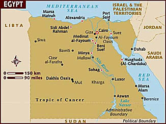 Egypt - Map of egypt with capital